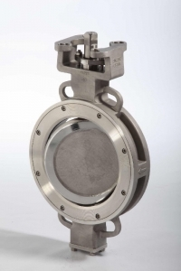 Double eccentricity butterfly valves