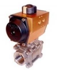Ball valves with actuator
