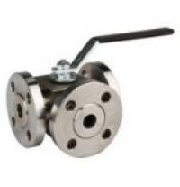 Three way ball valves